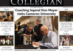 The Cameron University Collegian, Jan. 30, 2012