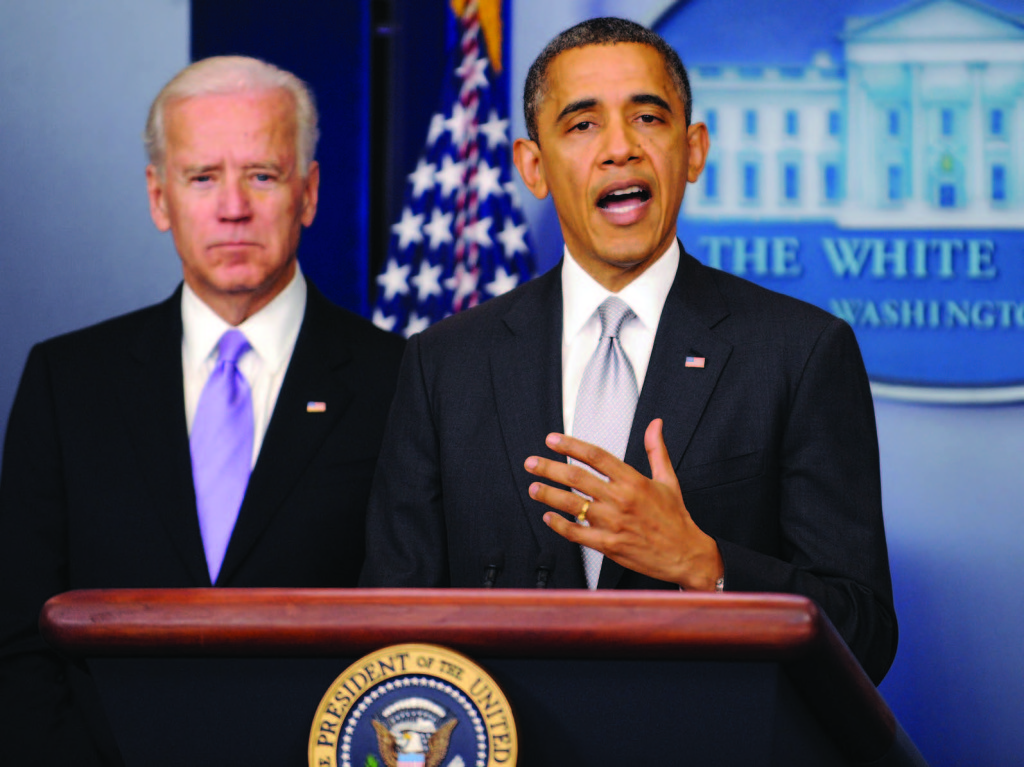 A call for reform: President Barack Obama stands alongside Vice President Joe Biden and addresses the nation in wake of the Sandy Hook Elementary shooting. The two leaders are in favor of banning assault weapons and high-capacity magazines.