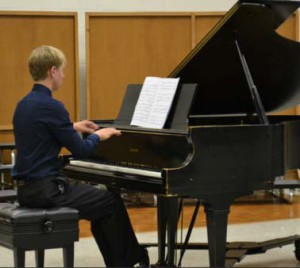 Piano Piece: Dylan Shadoan performs on the piano.