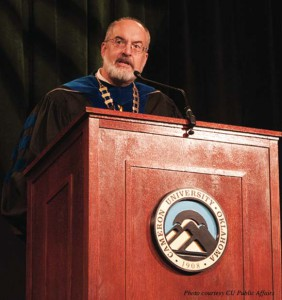 Inaugural address: In his speech during the Presidential Inauguration, Dr. John McArthur accepts the charge of becoming Cameron University's 17th president.