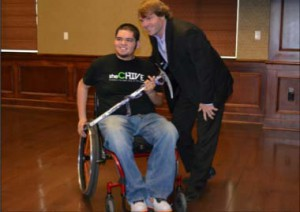 Two Inspiring Individuals: CU Freshman, Carlos Domingez and guest speaker Todd Huston together prior to the conference.