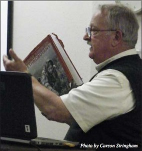 Plant use explained: Dr. Fred Schneider shares his knowledge of plants and the Plains Indians during his lecture.