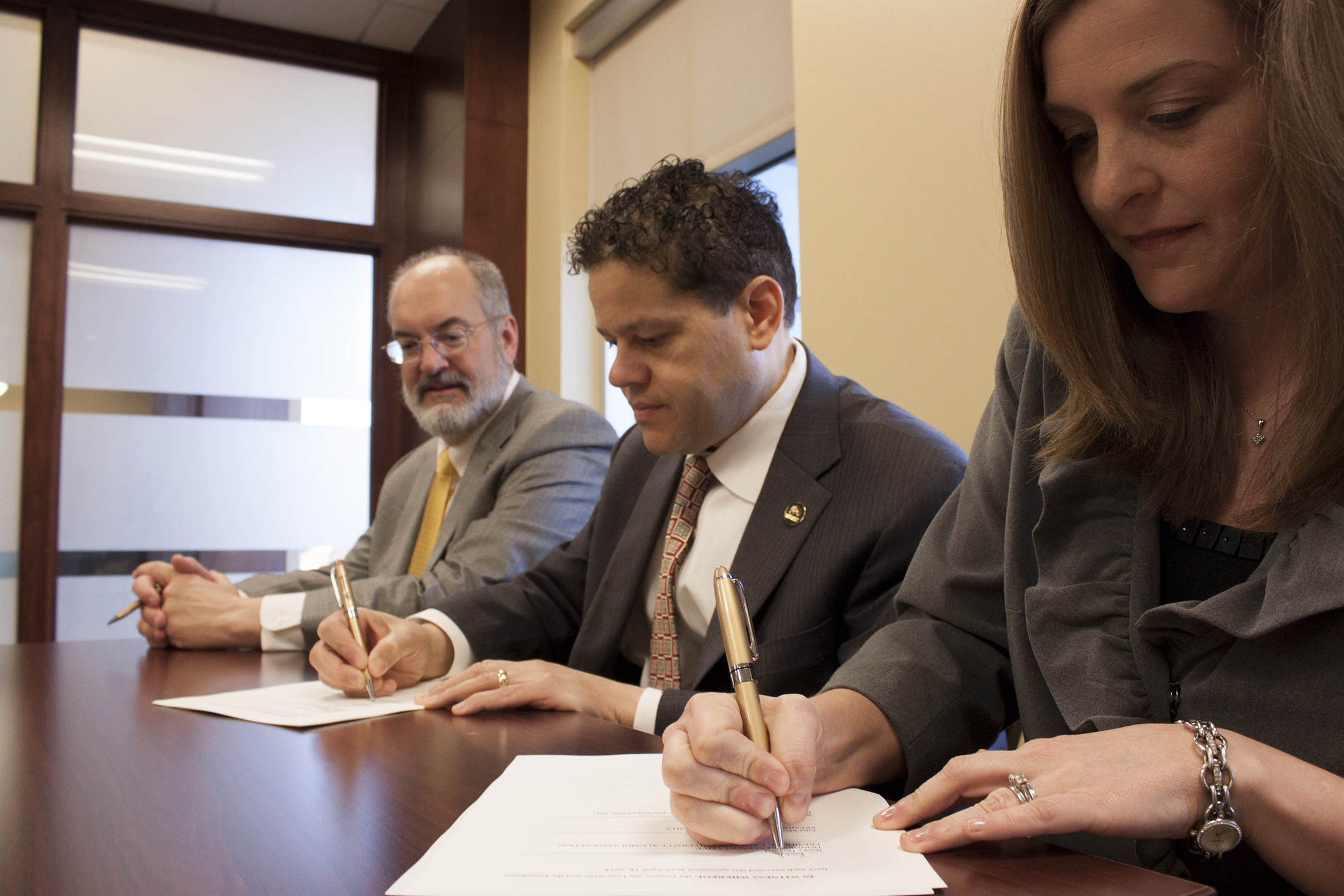 CUAA Endowment signing