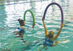 Dive into water aerobics