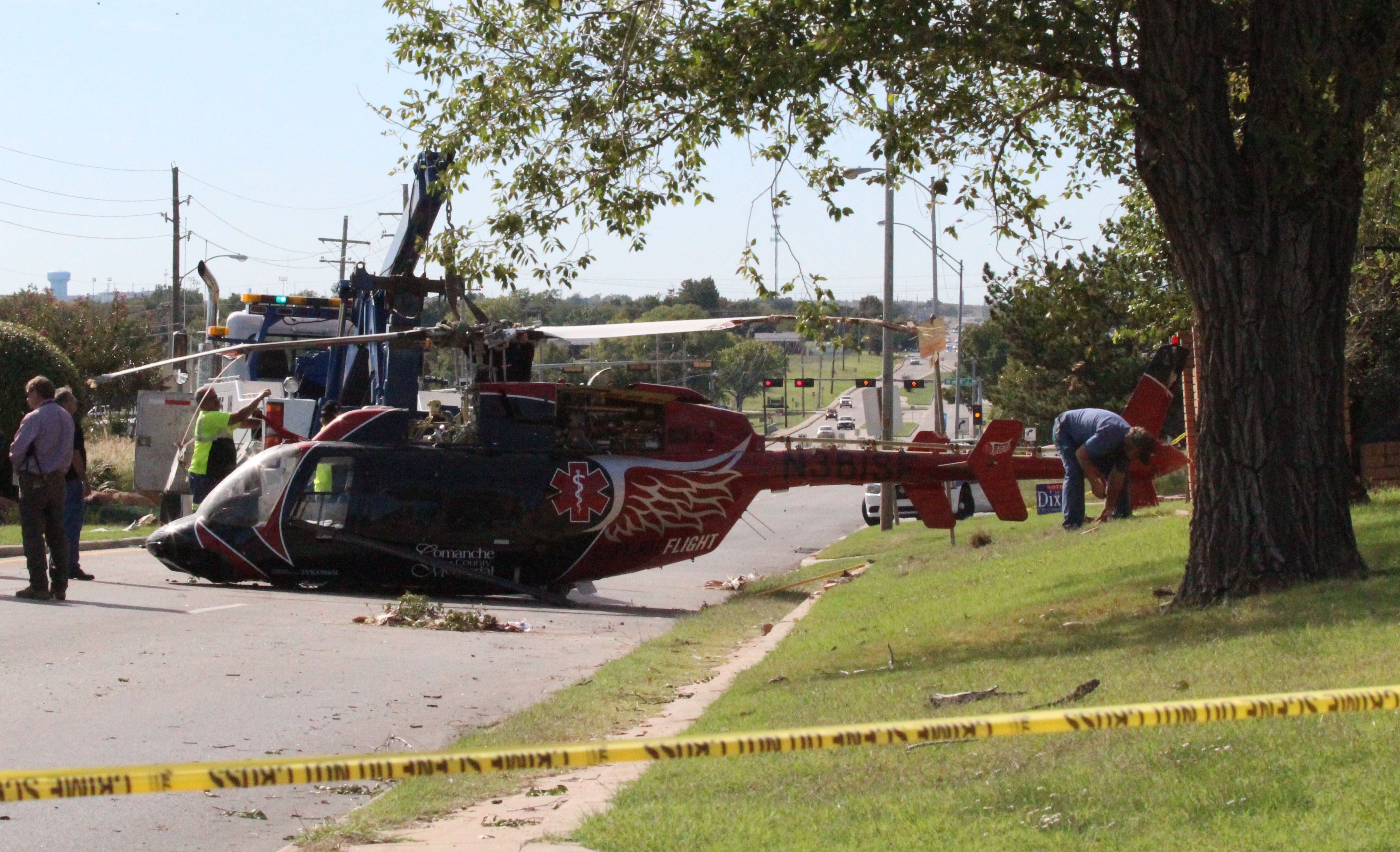 Helicopter Crash Causes Congested Traffic