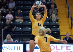 CU Women's Volleyball Falls 3-1 against Midwestern State University